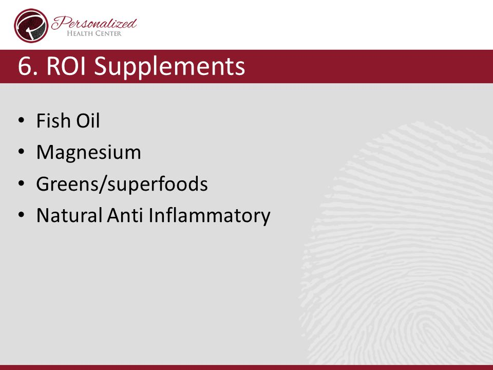 6. ROI Supplements Fish Oil Magnesium Greens/superfoods Natural Anti Inflammatory