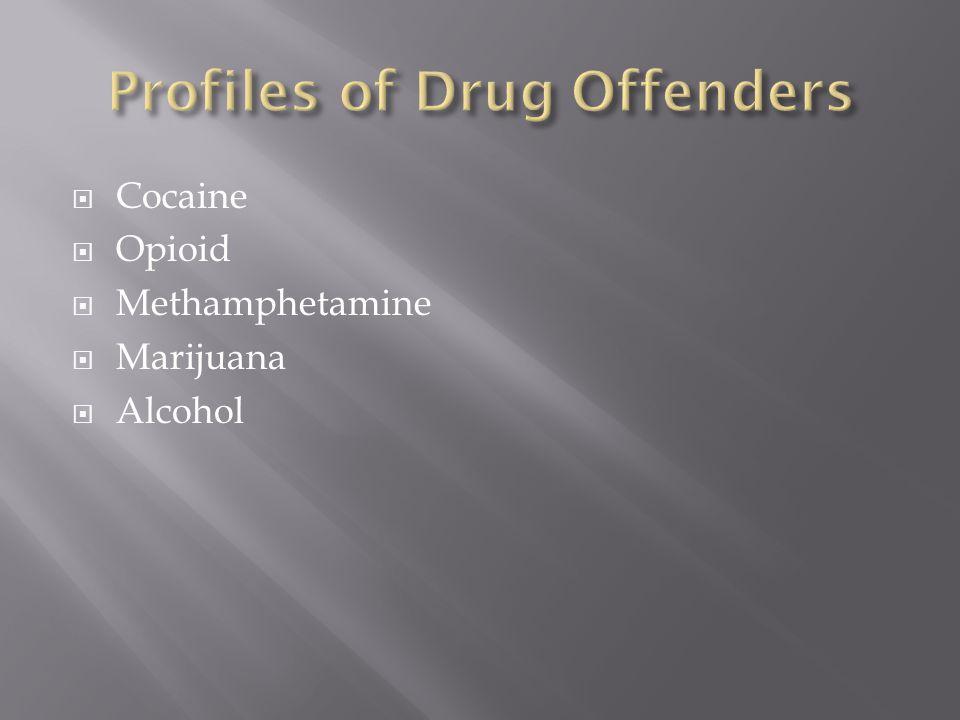  Cocaine  Opioid  Methamphetamine  Marijuana  Alcohol