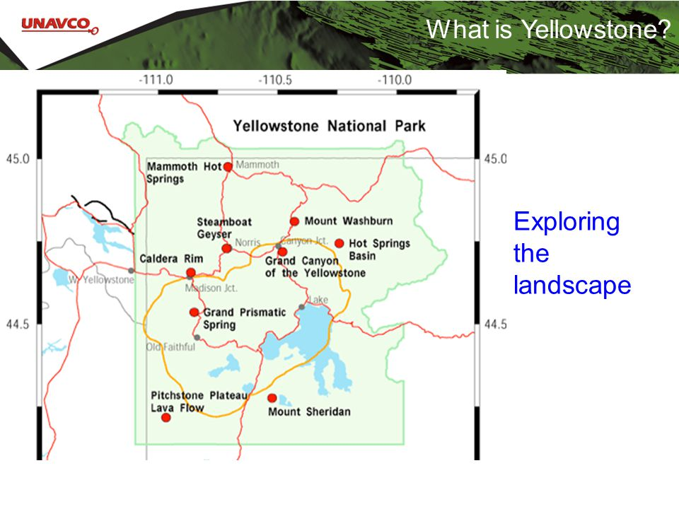 What is Yellowstone Exploring the landscape