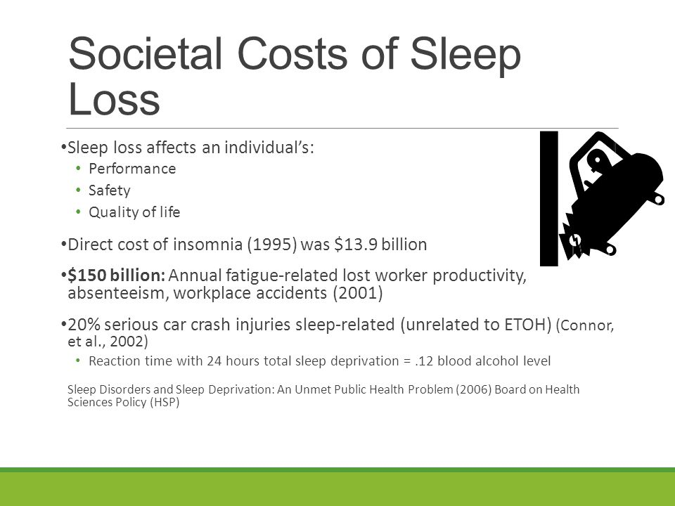 Lifestyle Interventions Establish sleep routine Important for mom AND baby sleep (often overlooked) Listen to body- when tired Don't try to 'forget about the fatigue' Healthy coping Treating the symptom (caffeine) versus treating the problem (getting more/better sleep) Go to bed about same time each night Don't delay sleep late into night if possible Early sleep more healing/restful Partners and Pets Does a partner have a sleep disorder or need a sleep study?