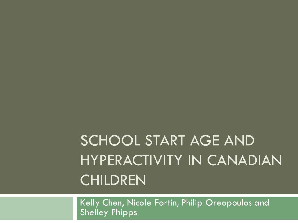 Basic Analytical Sample 12  Children aged 4 -9 years  In Kindergarten through Grade 3  Who attended public (or publically funded) schools  With parent report of province of residence when 4/5 years old and have not moved inter-provincially since