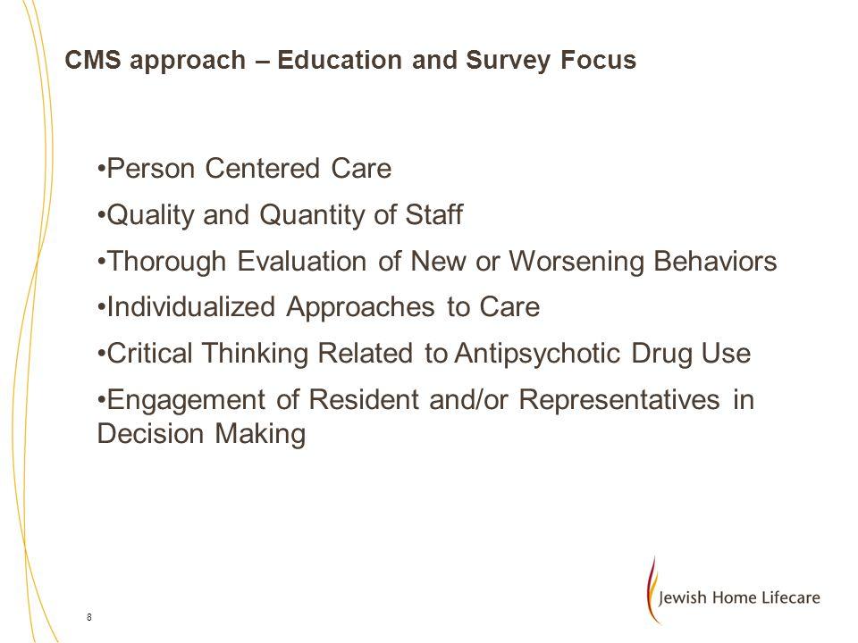 19 STUDY DESIGN 13 long term care comm across 3 campuses  7 Culture change pilot communities  6 Comparison communities Longitudinal study - 2 time points  Time 1 – 2003  Time 2 – 2005