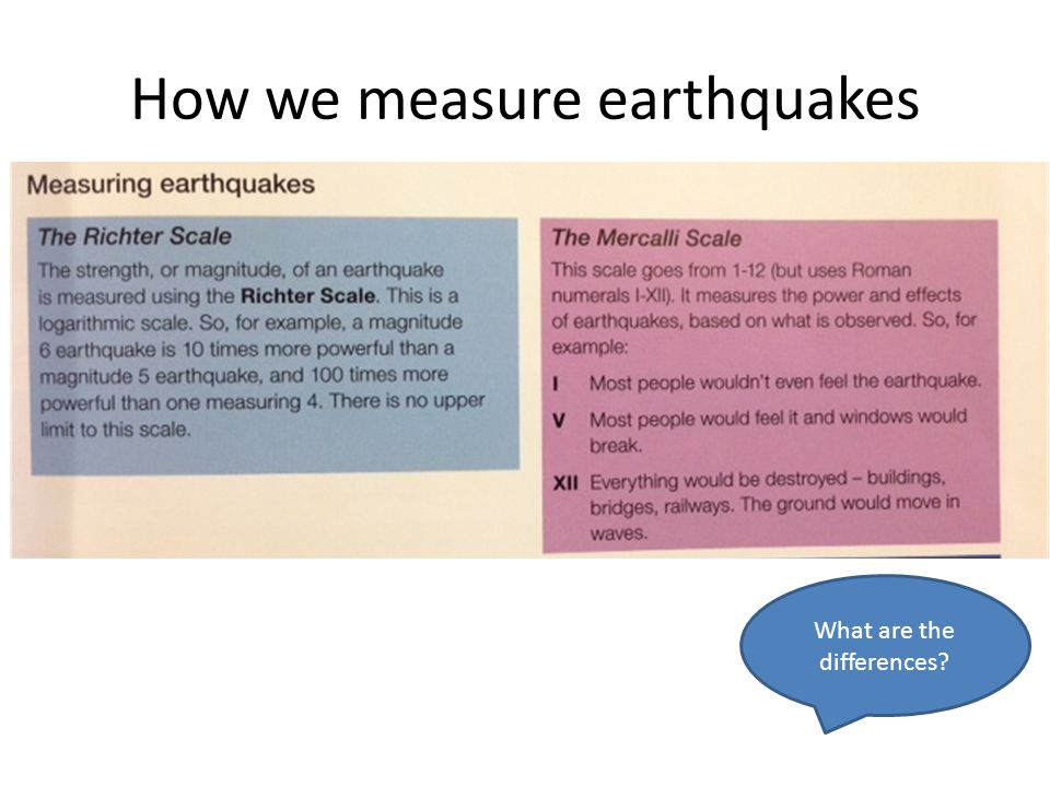 How we measure earthquakes What are the differences?