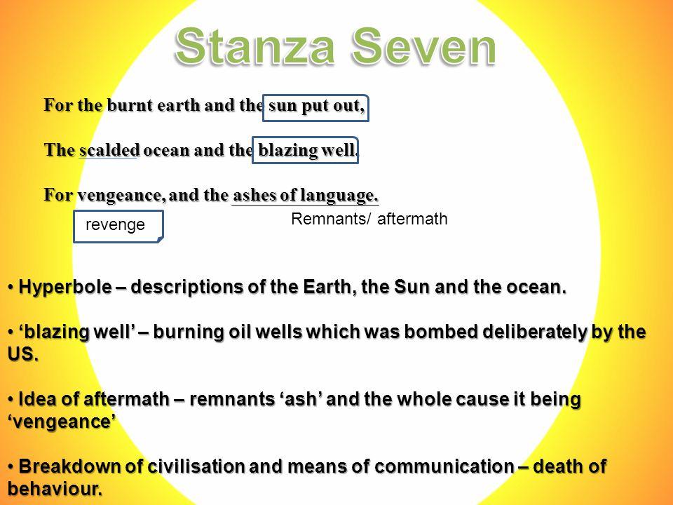 Hyperbole – descriptions of the Earth, the Sun and the ocean.