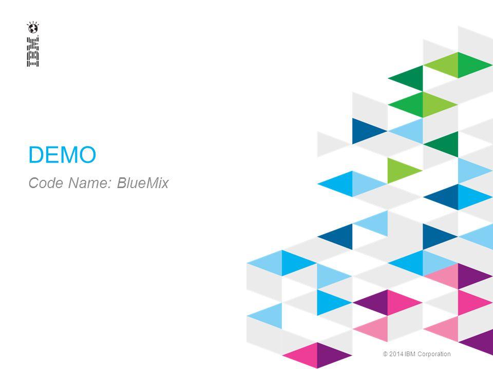 © 2014 IBM Corporation DEMO Code Name: BlueMix