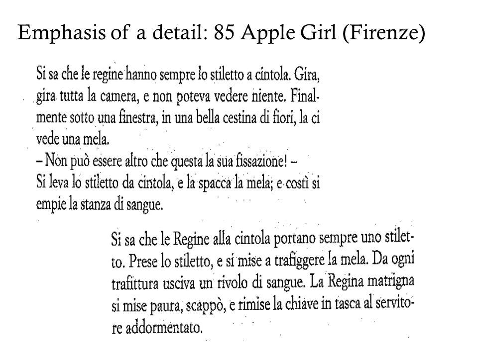 Emphasis of a detail: 85 Apple Girl (Firenze)