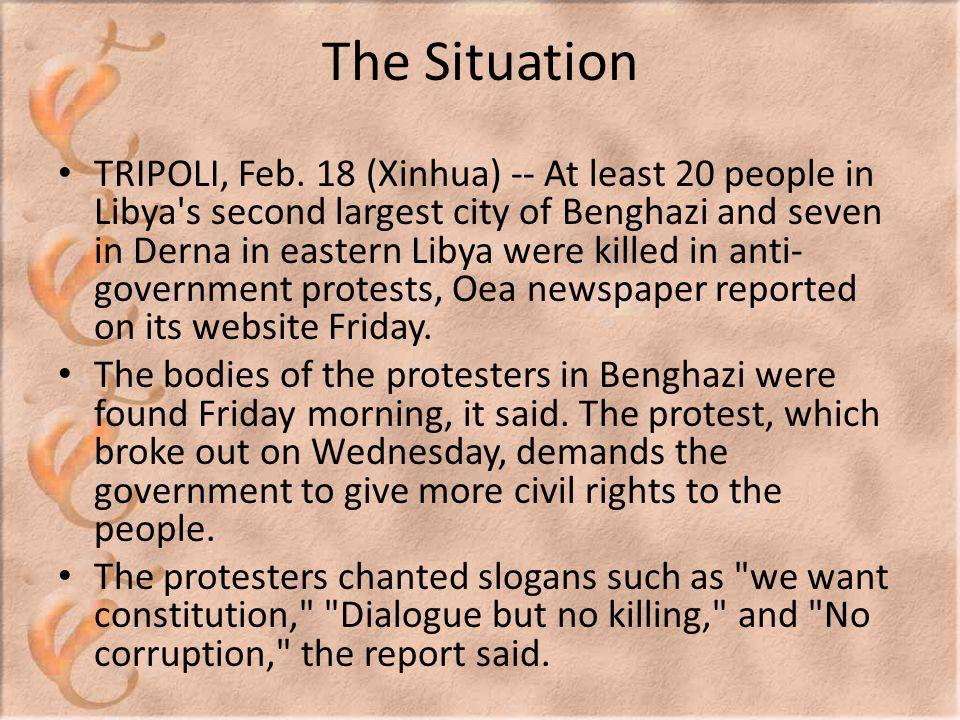 The Situation TRIPOLI, Feb.