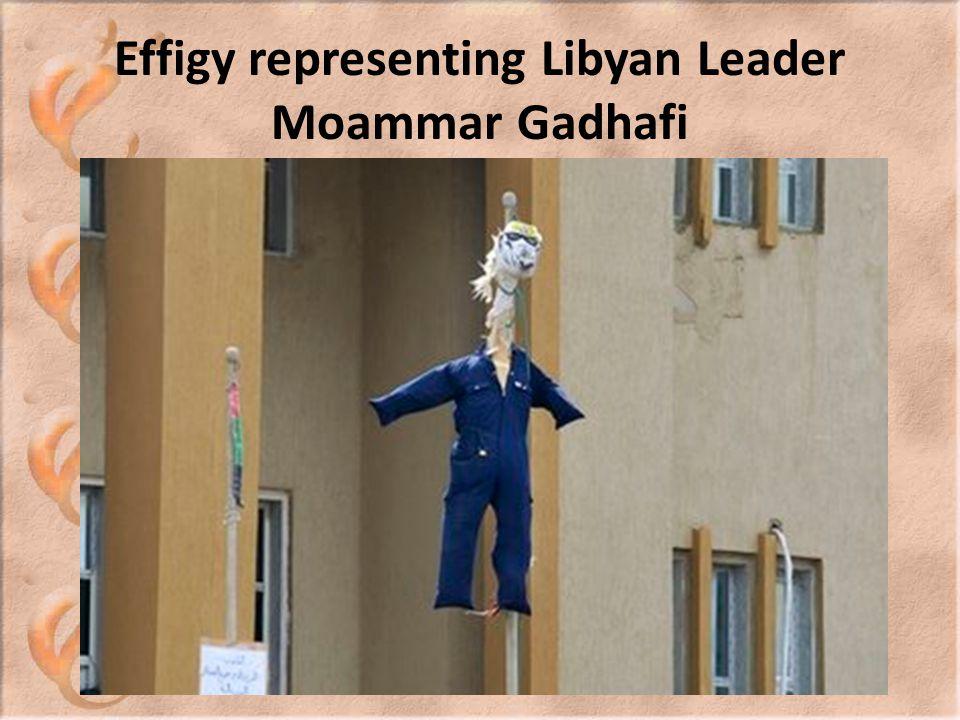 Effigy representing Libyan Leader Moammar Gadhafi