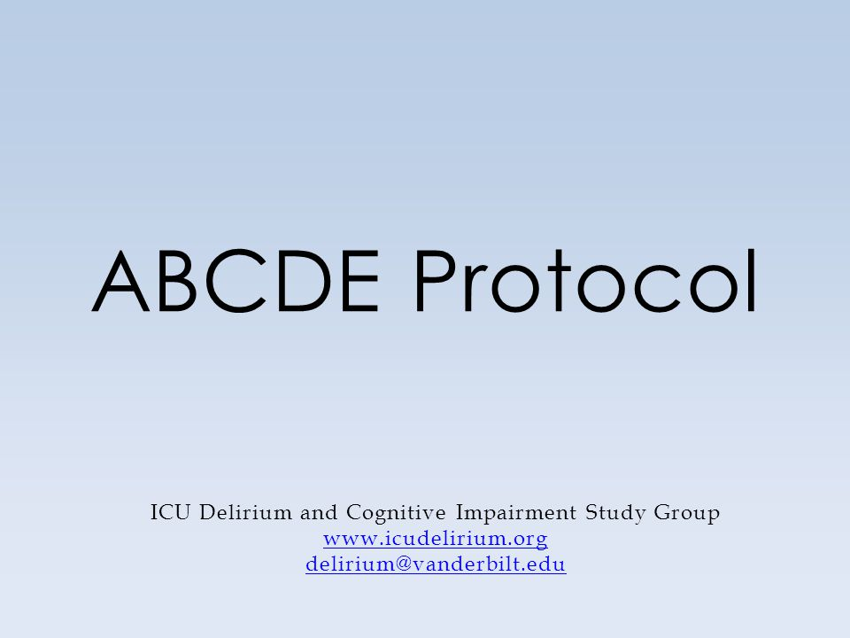 Why the ABCDE Protocol?