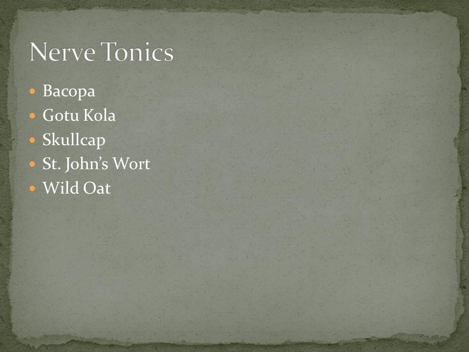 Bacopa Gotu Kola Skullcap St. John's Wort Wild Oat