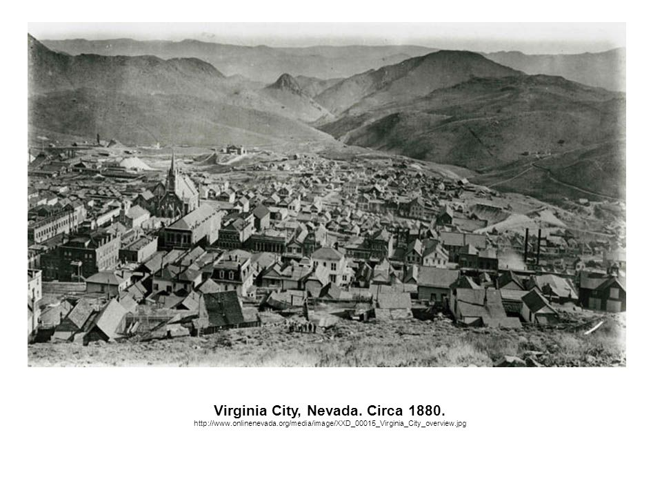 Virginia City, Nevada.Circa 1880.