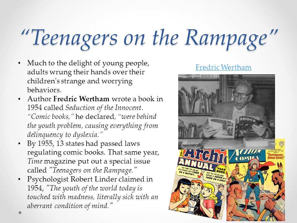 """""""Teenagers on the Rampage"""" Much to the delight of young people, adults wrung their hands over their children's strange and worrying behaviors. Author"""