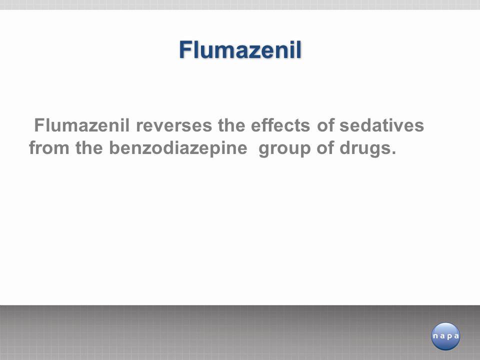 Flumazenil reverses the effects of sedatives from the benzodiazepine group of drugs. Flumazenil
