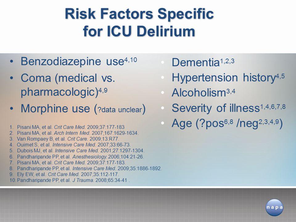Benzodiazepine use 4,10 Coma (medical vs.