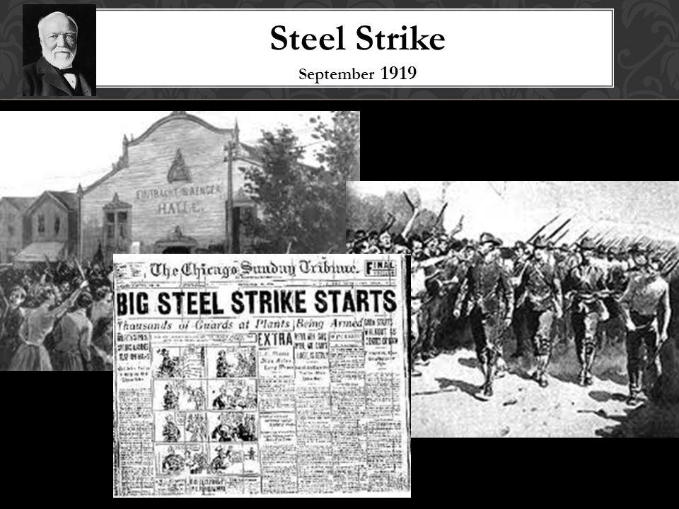 Steel Strike September 1919
