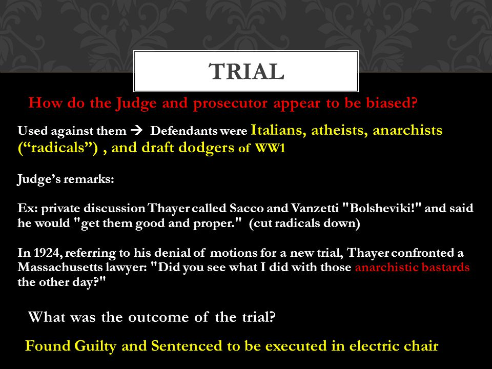 How do the Judge and prosecutor appear to be biased.