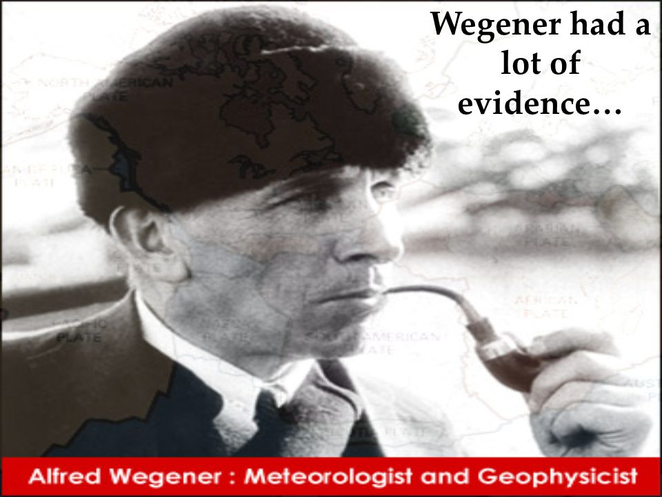 Wegener had a lot of evidence…