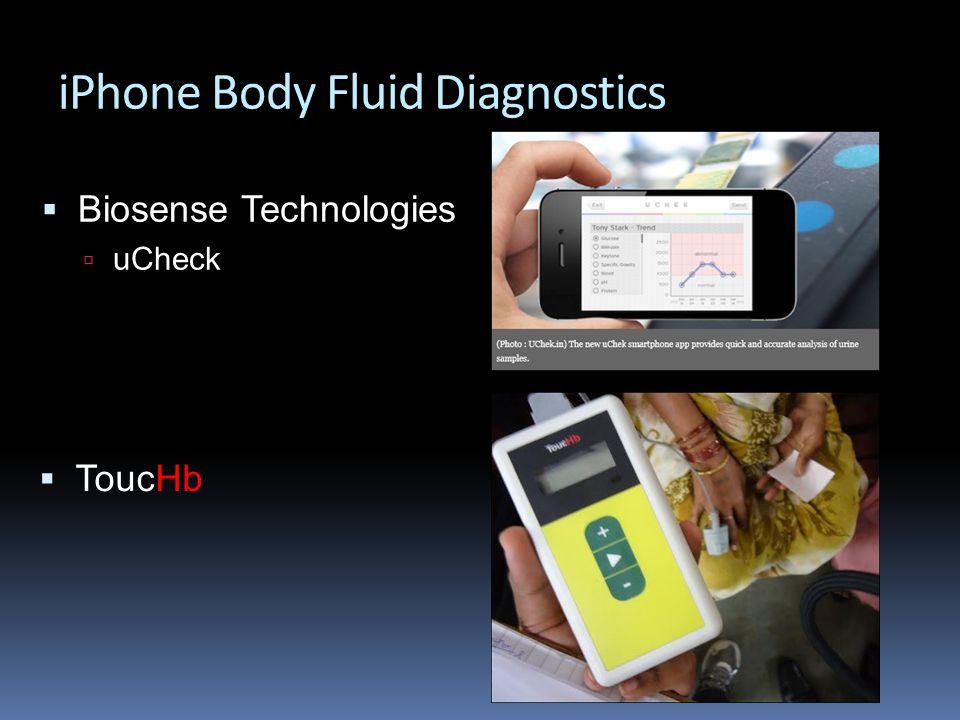 iPhone Body Fluid Diagnostics  Biosense Technologies  uCheck  ToucHb