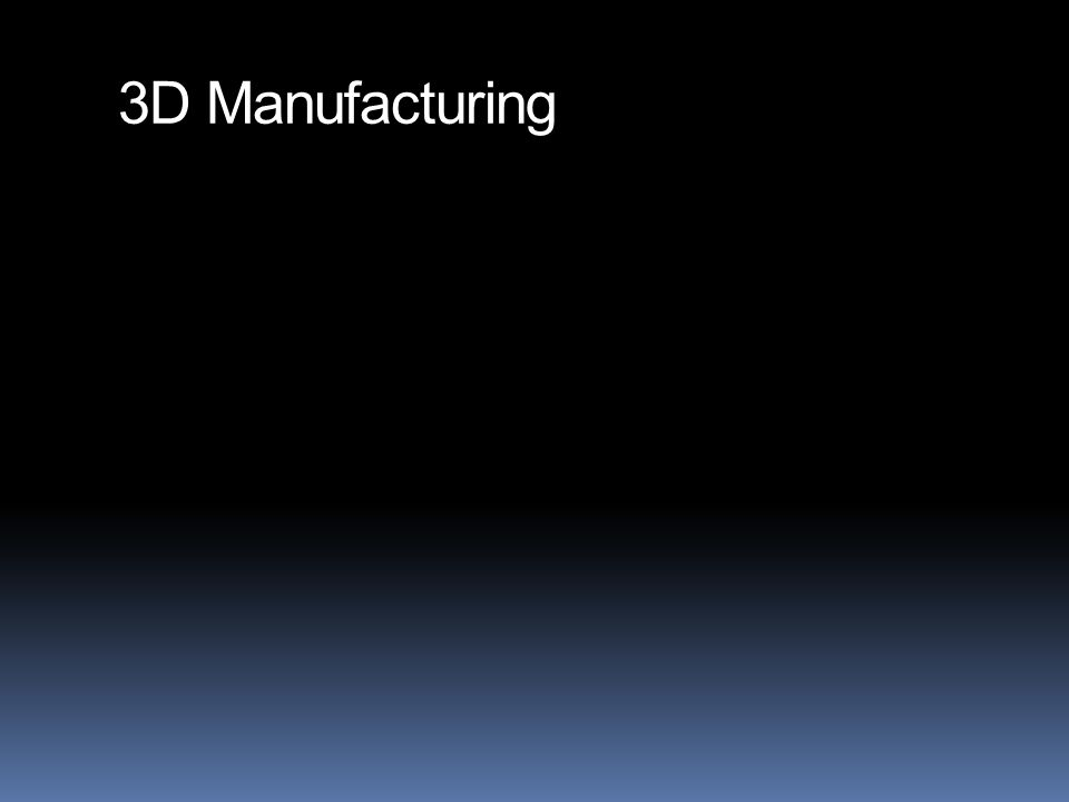 3D Manufacturing