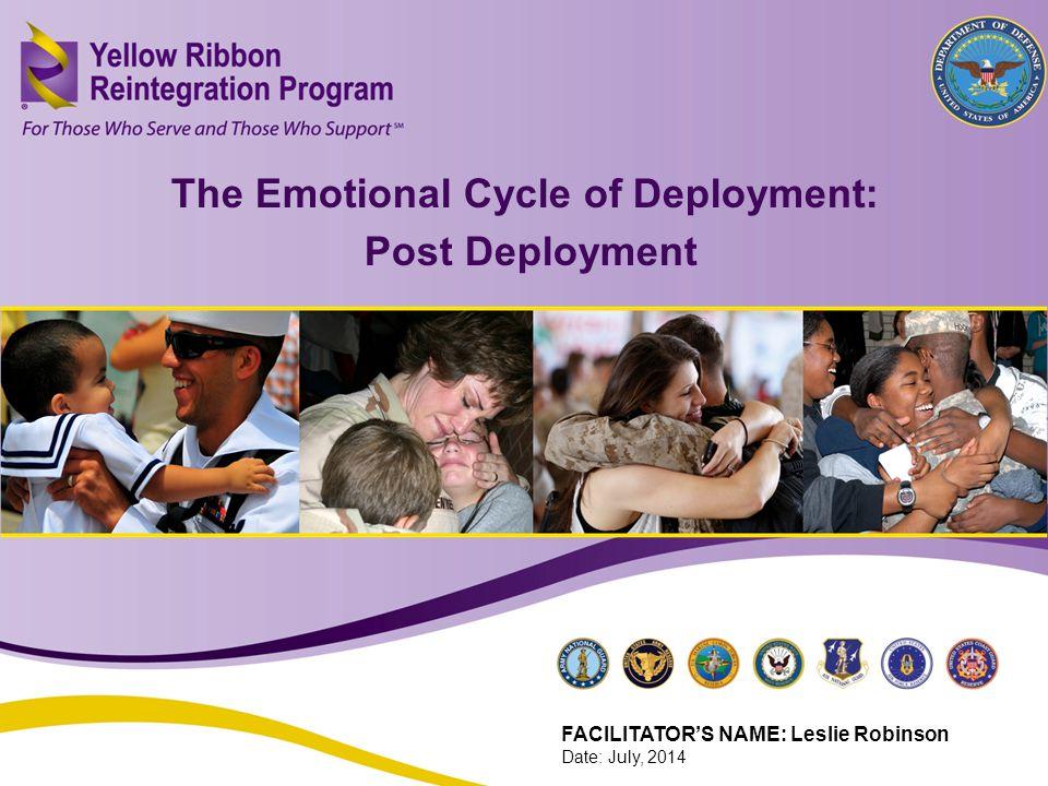 The Emotional Cycle of Deployment: Post Deployment (FEB 2013) 16 The Emotional Cycle of Deployment: Post Deployment FACILITATOR'S NAME: Leslie Robinson Date: July, 2014