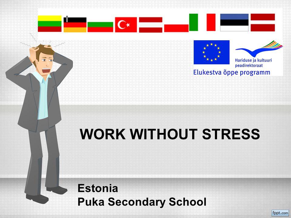 WORK WITHOUT STRESS Estonia Puka Secondary School