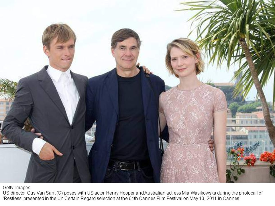 Getty Images CANNES, FRANCE - MAY 13: (L-R) Actors Bryce Dallas Howard, writer Jason Lew, director Gus Van Sant, Henry Hopper and Mia Wasikowska attend the Restless photocall during the 64th Annual Cannes Film Festival on May 13, 2011 in Cannes, France.