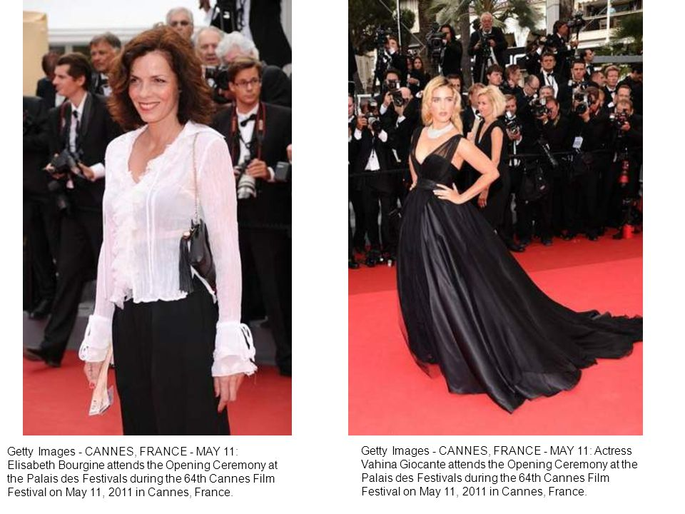 Getty Images - CANNES, FRANCE - MAY 11: Actress Vahina Giocante attends the Opening Ceremony at the Palais des Festivals during the 64th Cannes Film Festival on May 11, 2011 in Cannes, France.