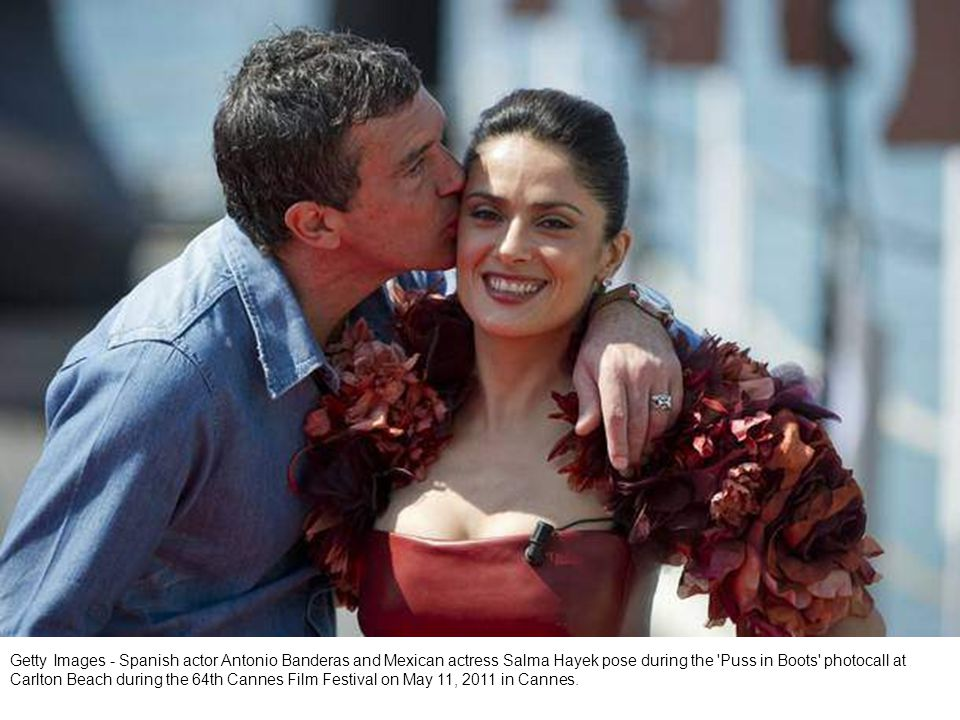 Getty Images - Mexican actress Salma Hayek gets ready before an interview as part of the promotion of the film Puss in Boots during the 64th Cannes Film Festival on May 11, 2011 in Cannes.