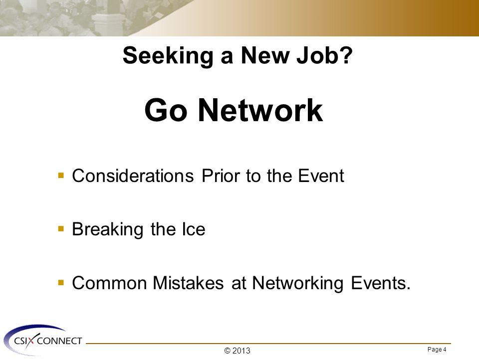 Page 4 Seeking a New Job.
