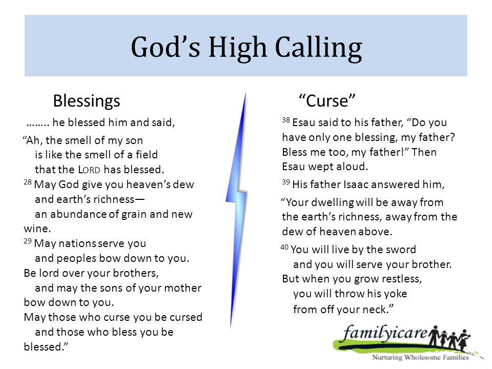 God's High Calling Blessings ……..