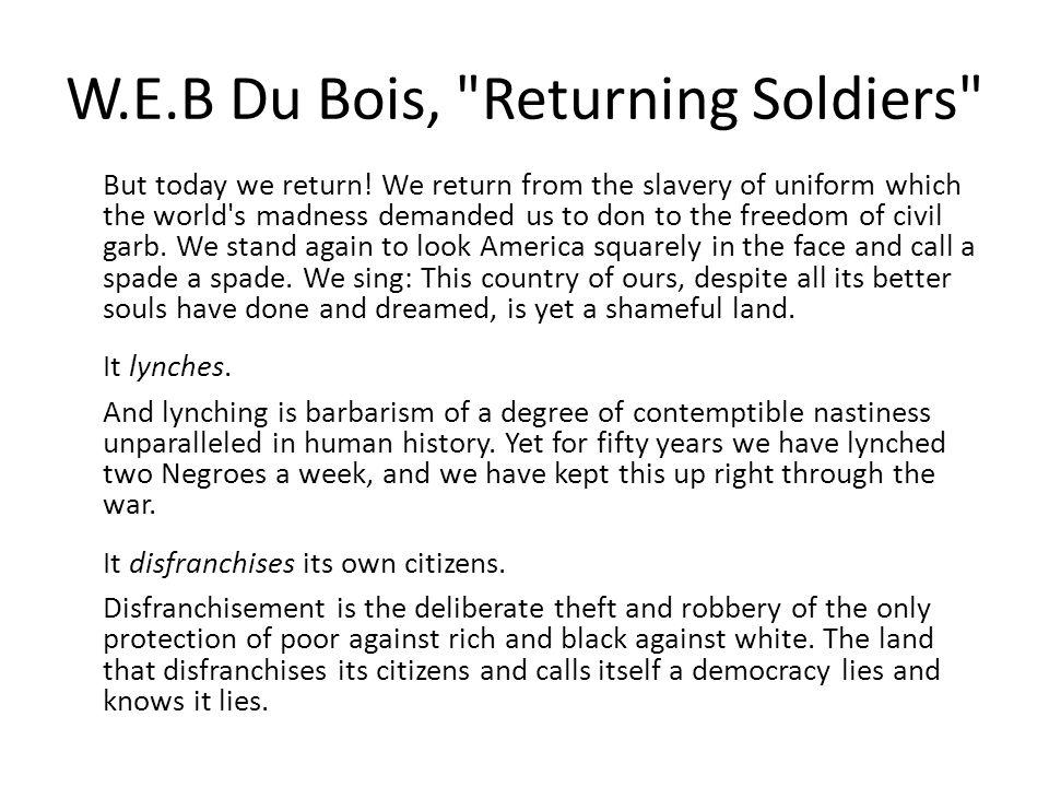 W.E.B Du Bois,