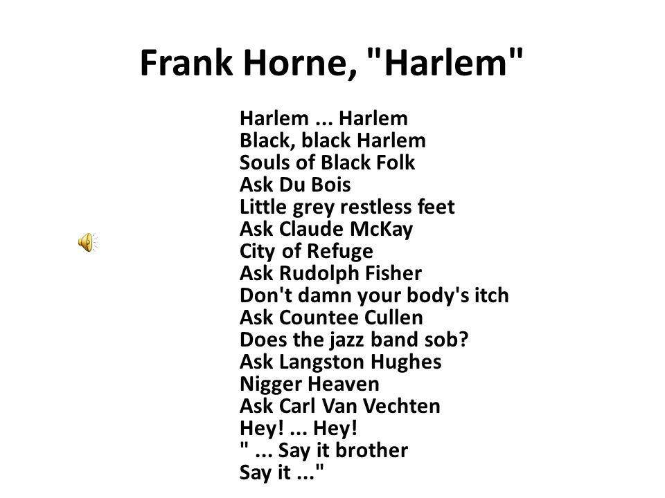 Frank Horne, Harlem Harlem...