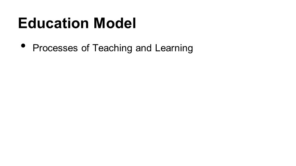 Education Model Processes of Teaching and Learning