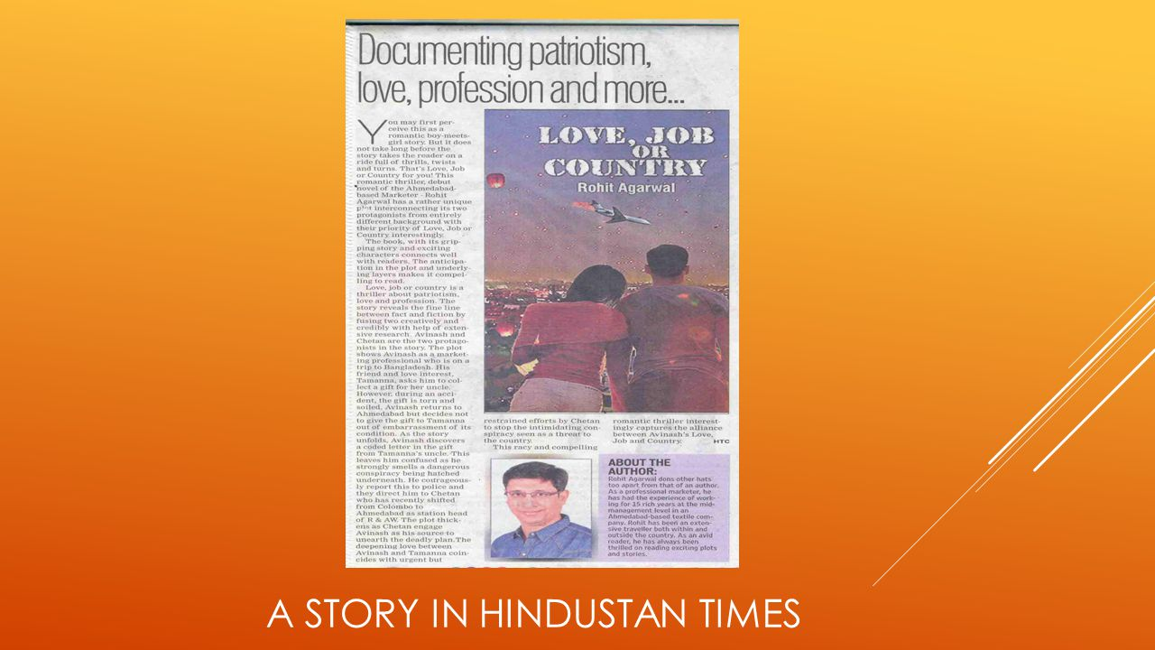 A STORY IN HINDUSTAN TIMES