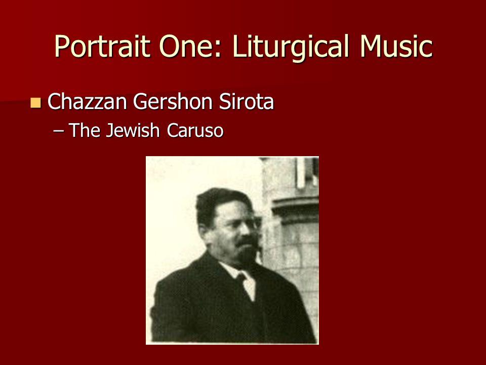 Chazzan Gershon Sirota Chazzan Gershon Sirota –The Jewish Caruso