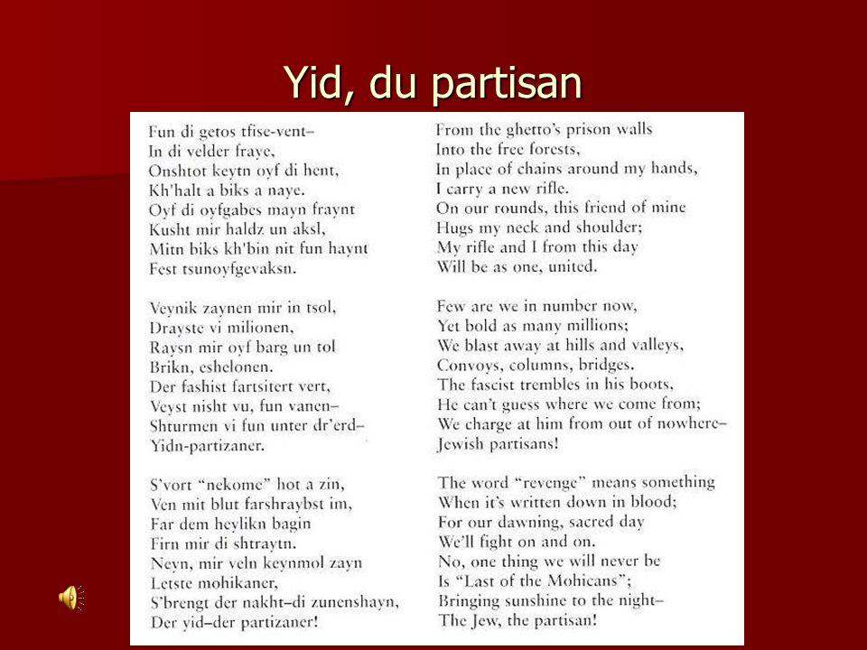 Yid, du partisan
