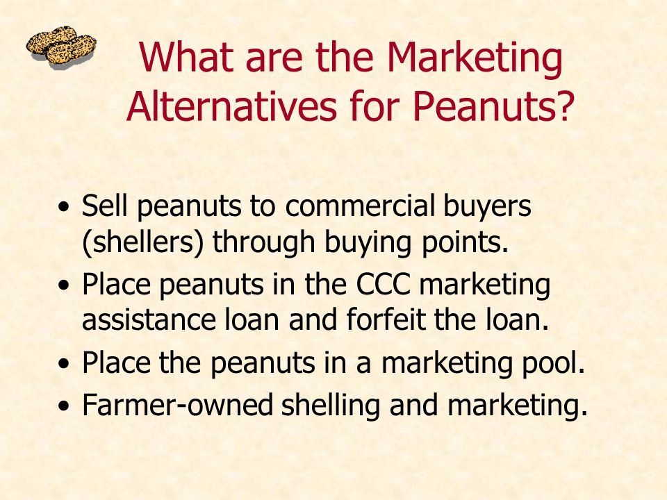 What are the Marketing Alternatives for Peanuts.