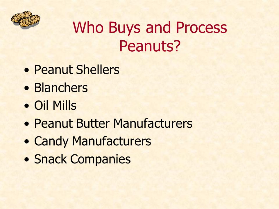 Who Buys and Process Peanuts.