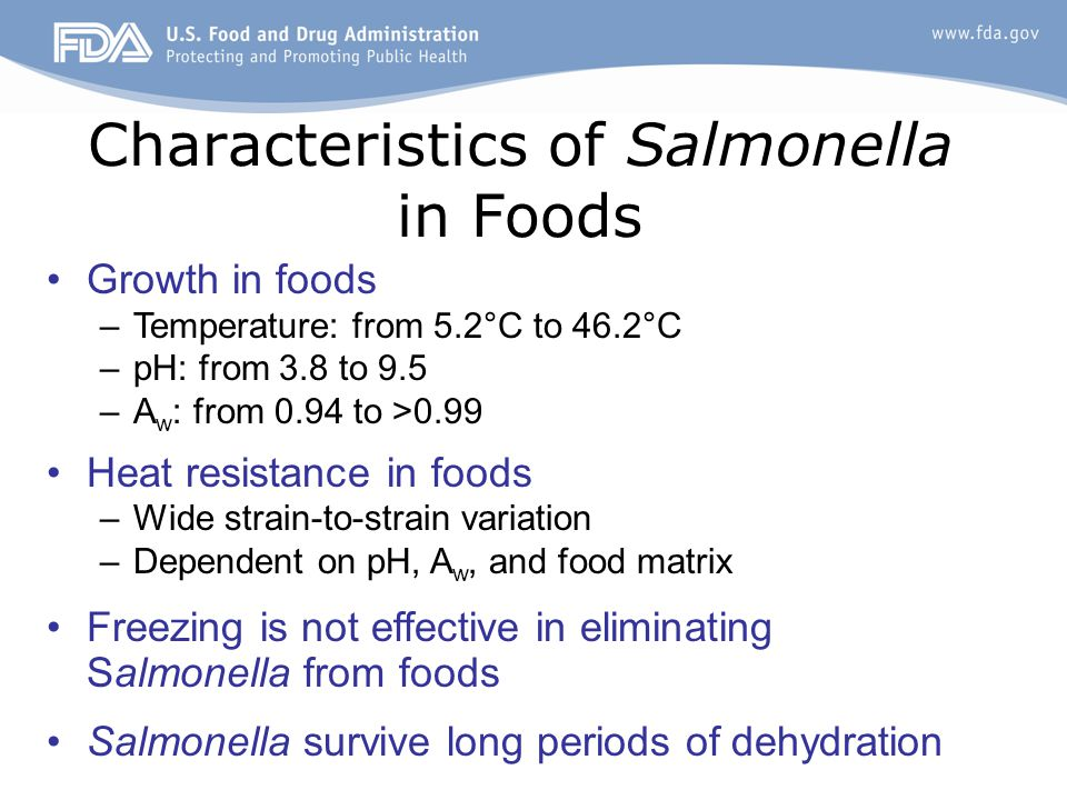 Heat Resistance of Salmonella * Effects of pH –S.