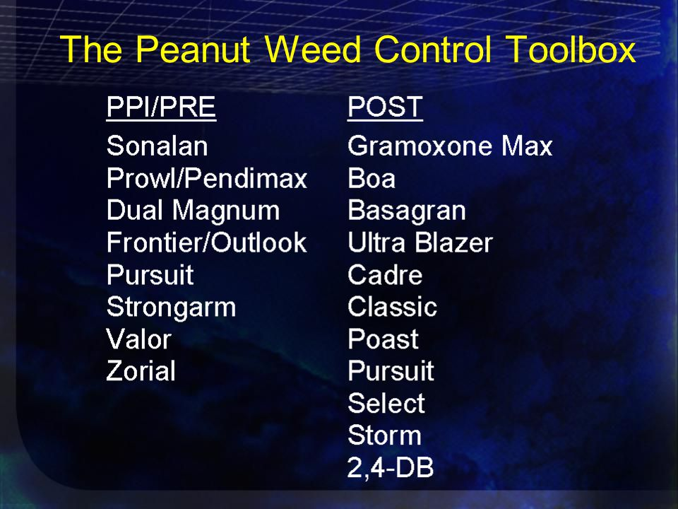 The Peanut Weed Control Toolbox