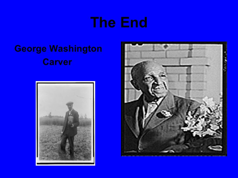 The End George Washington Carver