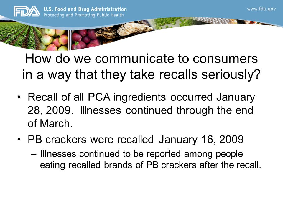 How do we communicate to consumers in a way that they take recalls seriously.