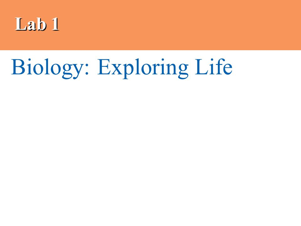 Lab 1 Biology: Exploring Life