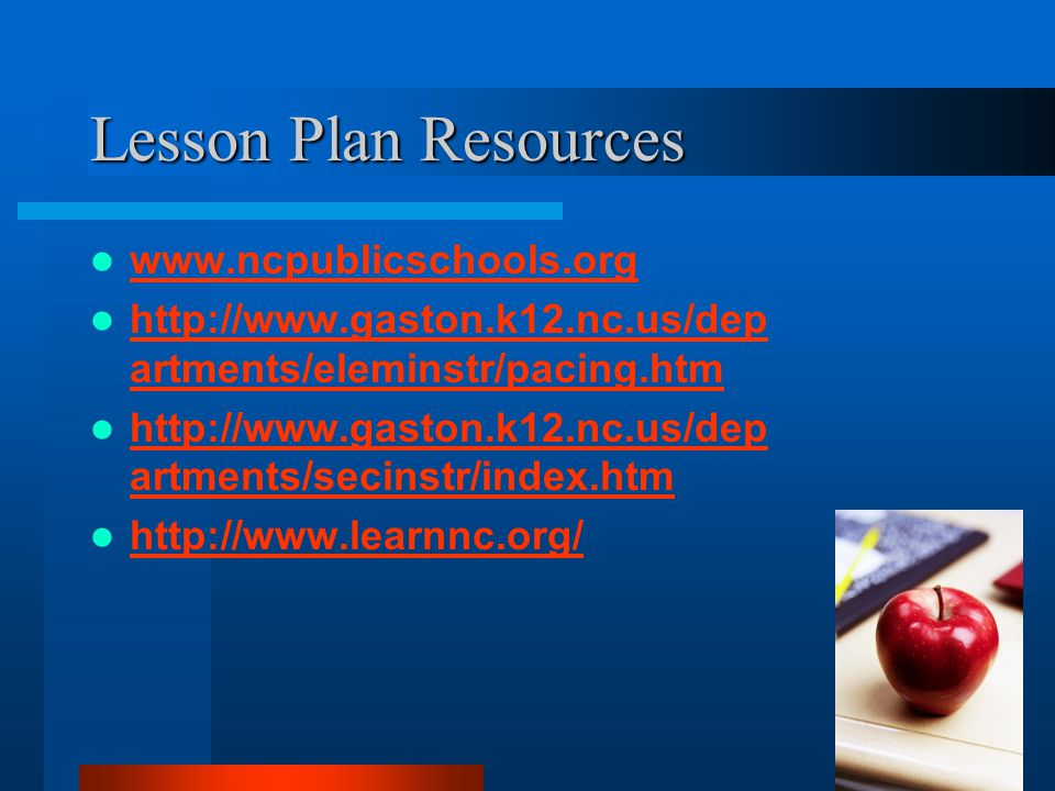 Lesson Plan Assignment Choose an objective from the curriculum you plan to teach Work in groups to brainstorm and analyze available resources Use the lesson plan format provided and develop a detailed plan for one of the objectives Submit to me via Taskstream and share with classmates for feedback