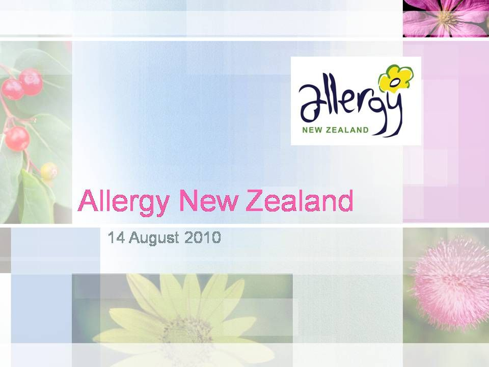 Food allergy in adults: what's new on the menu? Penny Fitzharris August 2010