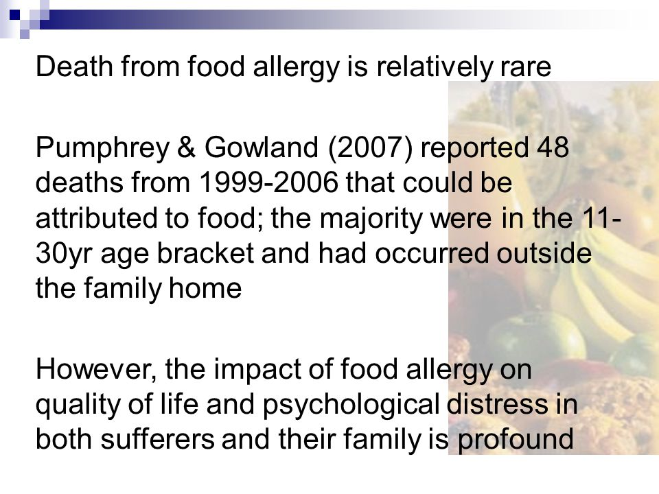 Results Parents of children with food allergies had significantly lower QoL in their social relationships and lower overall QoL Children with food allergies scored lower on social and emotional QoL Photo analysis showed that food allergy particularly influenced domains of education, food/drink, health and places