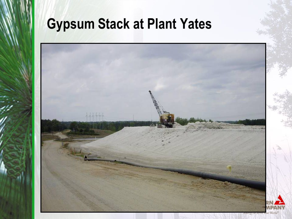Gypsum Stack at Plant Yates