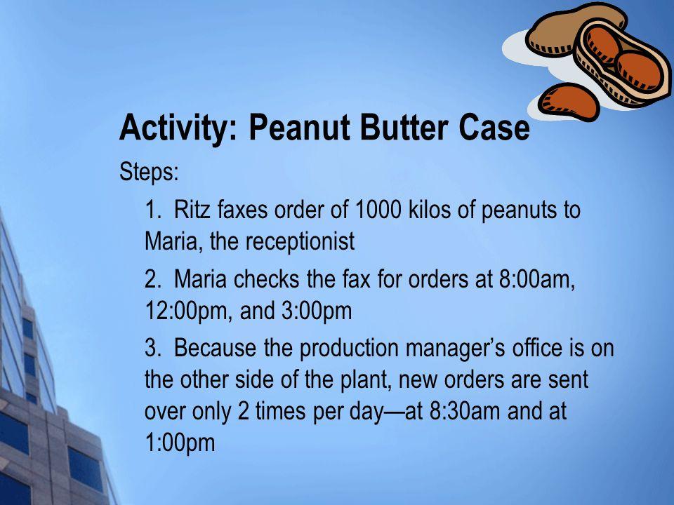 Activity: Peanut Butter Case Steps: 1.
