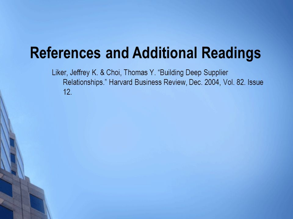 Liker, Jeffrey K. & Choi, Thomas Y.