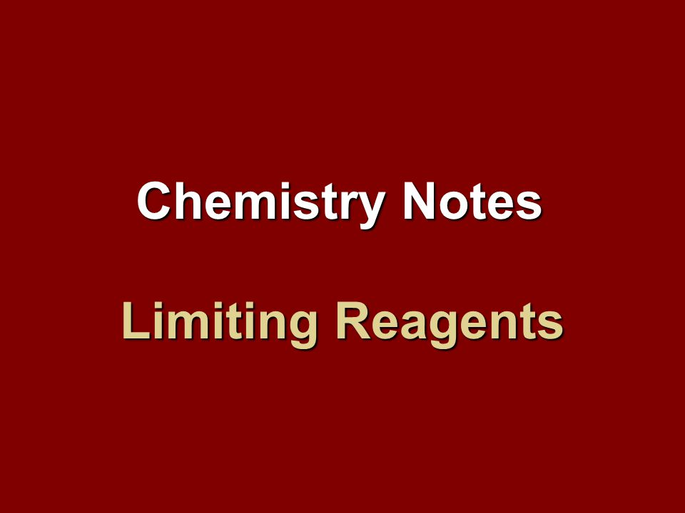 How do you find what the limiting reagent is.